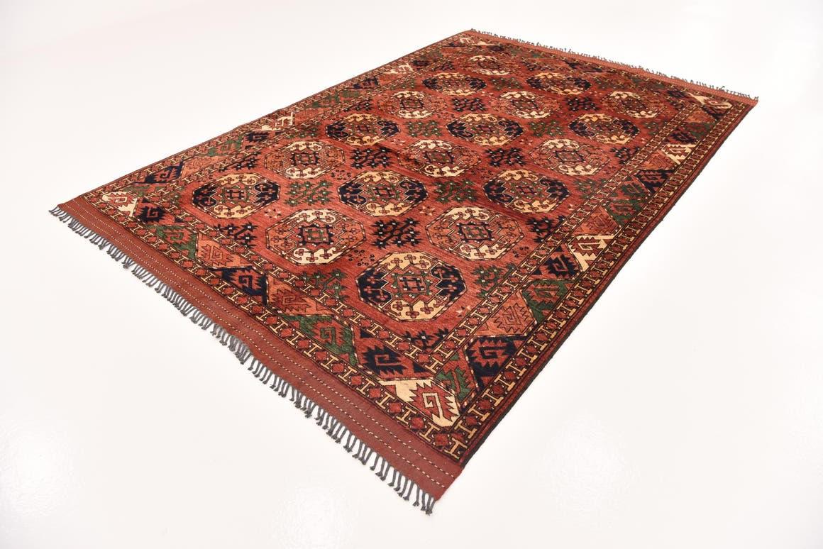 Red  6' 10 x 10' 1 Afghan Ersari