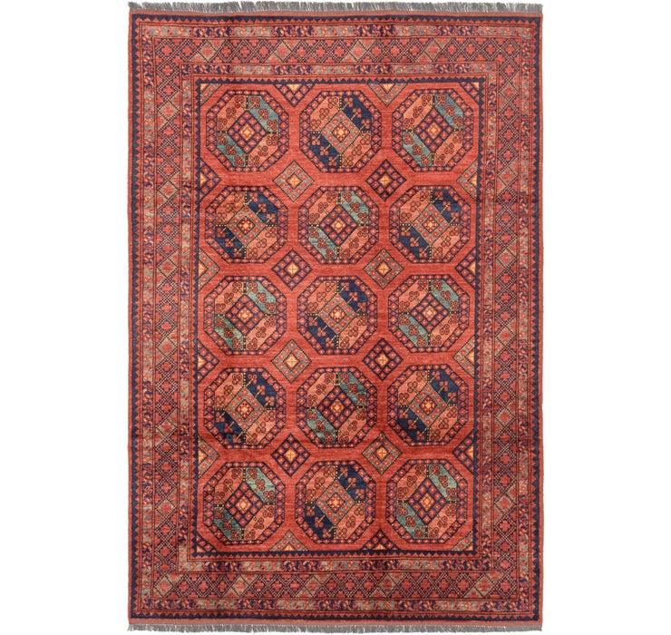 6' 9 x 10' 1 Afghan Ersari Rug