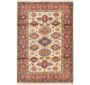 3' 4 x 4' 9 Kazak Oriental Rug main image