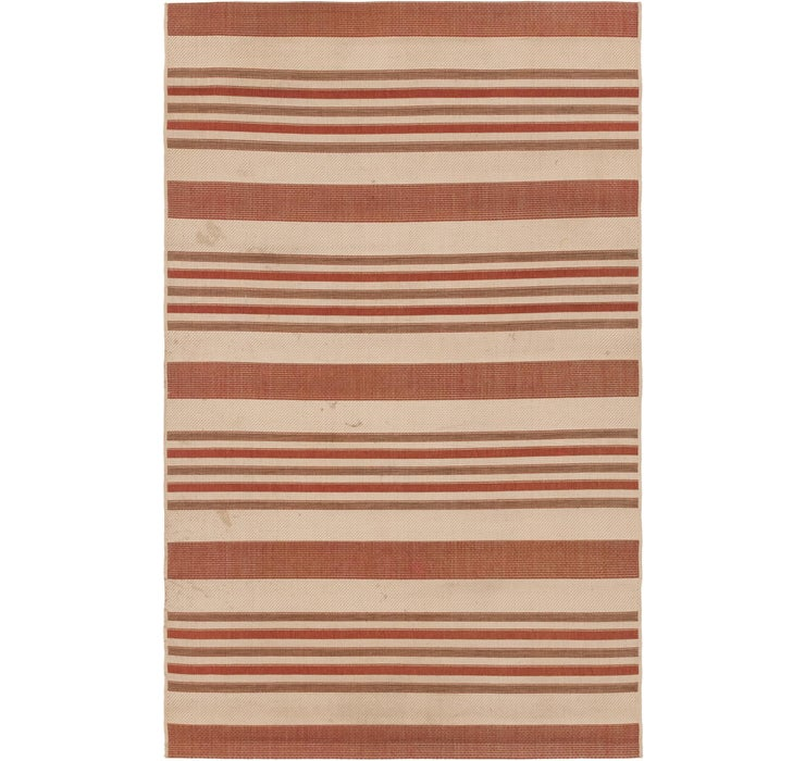 4' 10 x 7' 9 Outdoor Striped Rug
