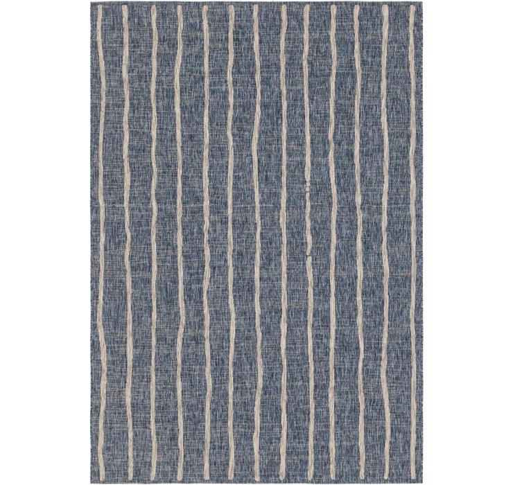 6' 6 x 9' 5 Outdoor Striped Rug