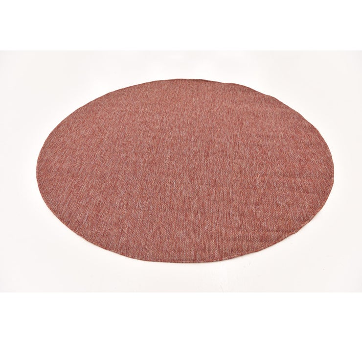 193cm x 198cm Outdoor Solid Round Rug