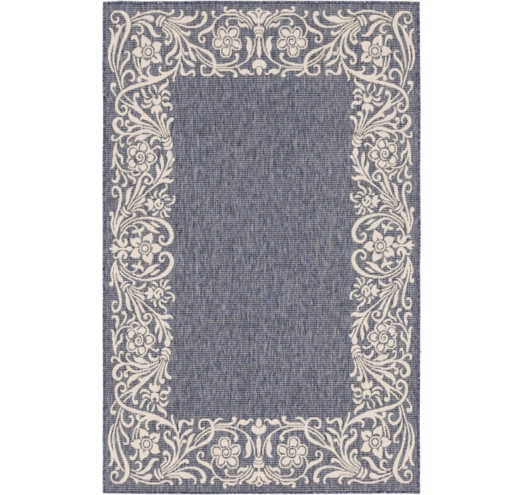 155cm x 245cm Outdoor Botanical Rug