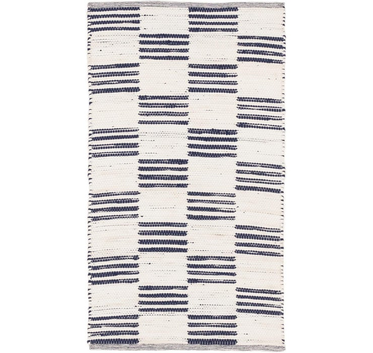 2' 10 x 5' 1 Chindi Cotton Rug