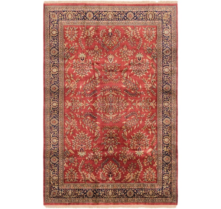 6' 6 x 9' 10 Sarough Oriental Rug