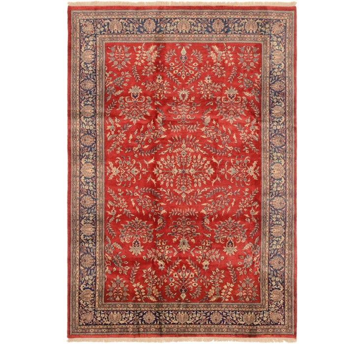 6' 7 x 9' 8 Sarough Oriental Rug