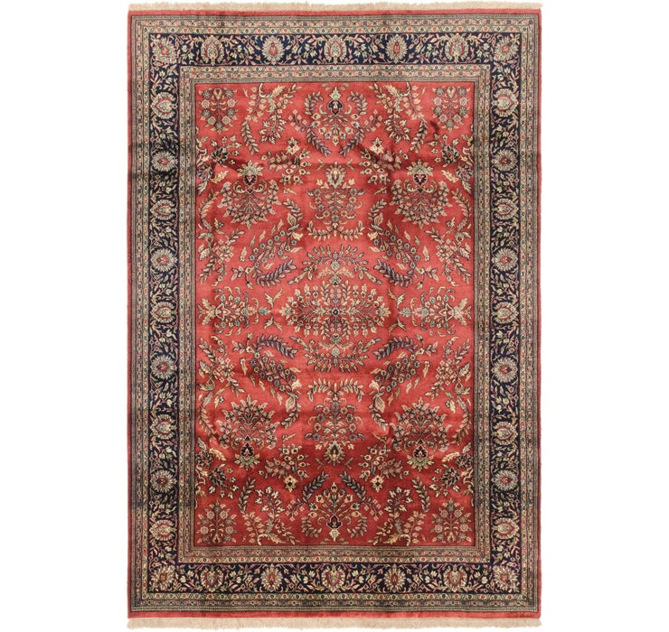 6' 7 x 9' 7 Sarough Oriental Rug