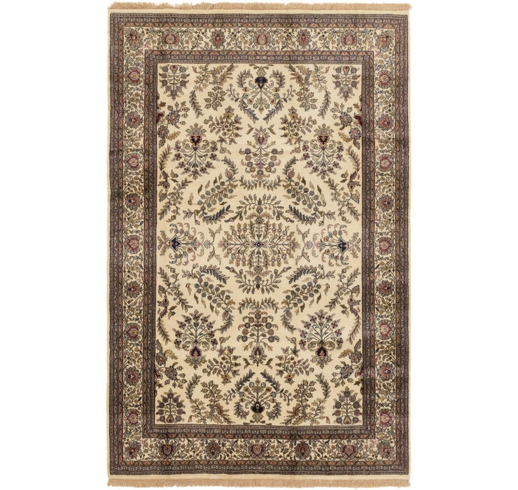 6' 4 x 9' 10 Sarough Oriental Rug