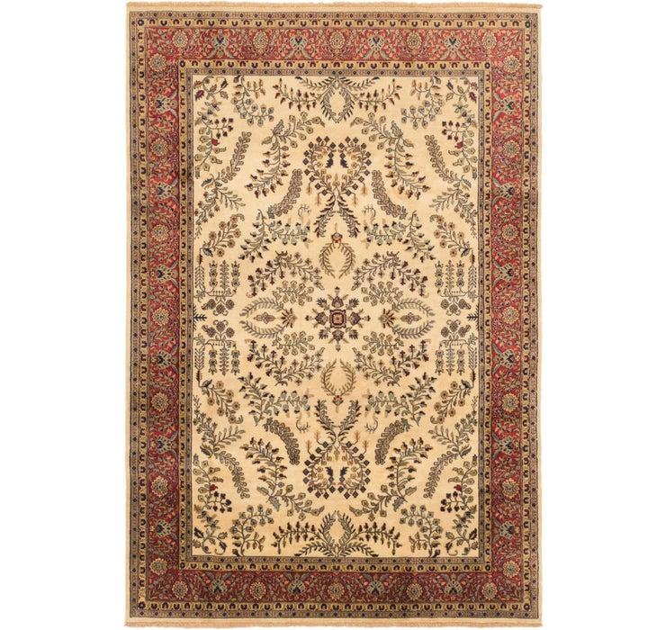Image of 193cm x 290cm Sarough Oriental Rug