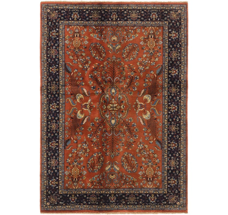 4' 8 x 6' 9 Sarough Oriental Rug
