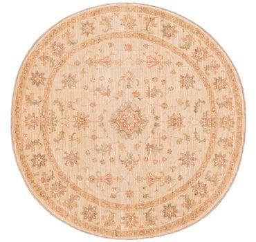 6' 7 x 6' 7 Peshawar Ziegler Round Rug main image
