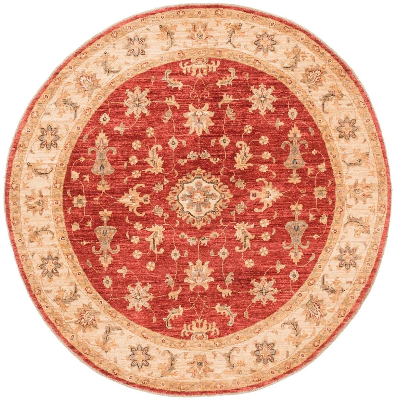 6' 7 x 6' 9 Peshawar Ziegler Round Rug main image