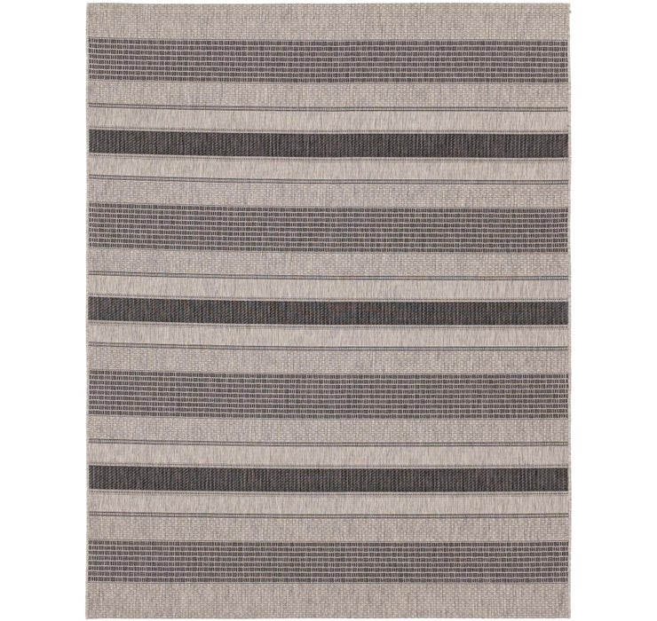 7' 9 x 9' 9 Outdoor Striped Rug