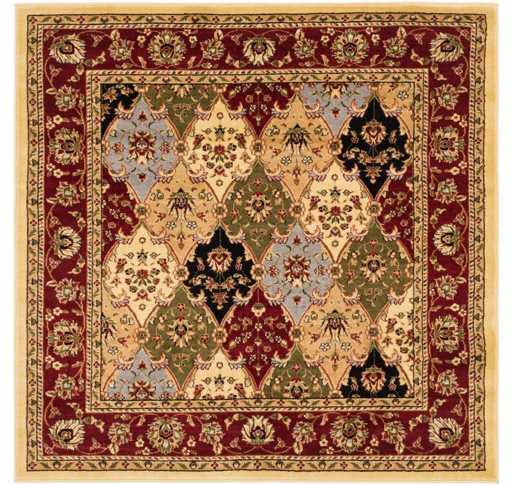5' 10 x 6' Isfahan Design Square Rug