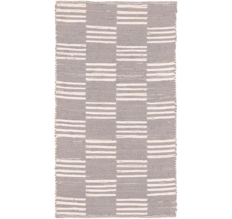 2' 10 x 5' 2 Chindi Cotton Rug