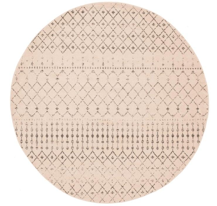 7' 10 x 8' Kasbah Trellis Round Rug