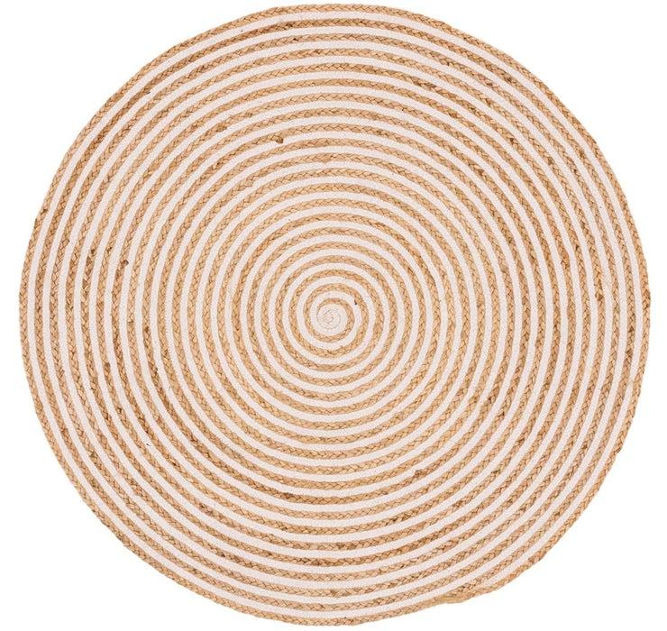 122cm x 122cm Braided Jute Round Rug