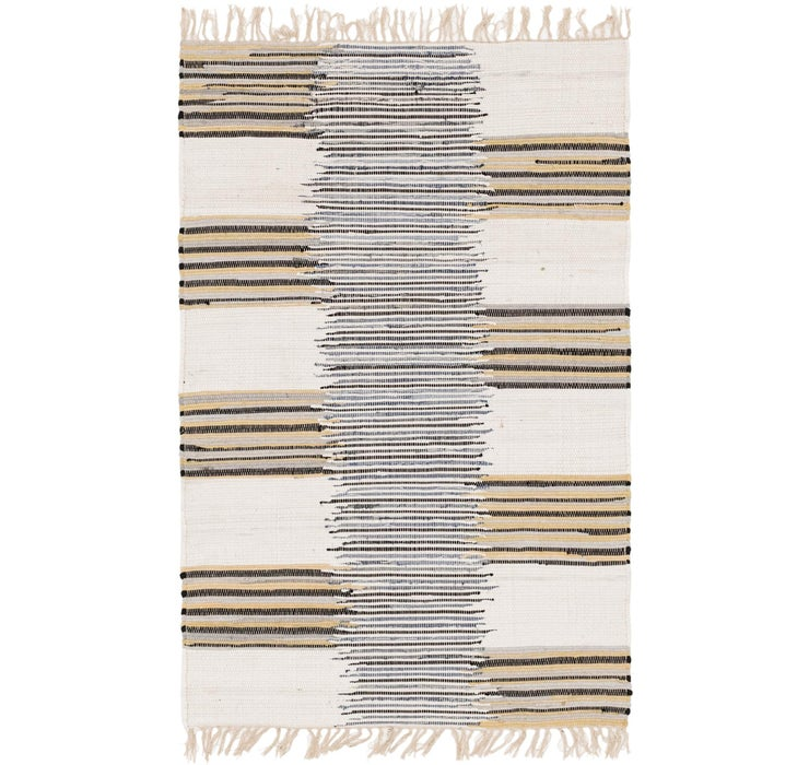 4' x 6' 1 Chindi Cotton Rug