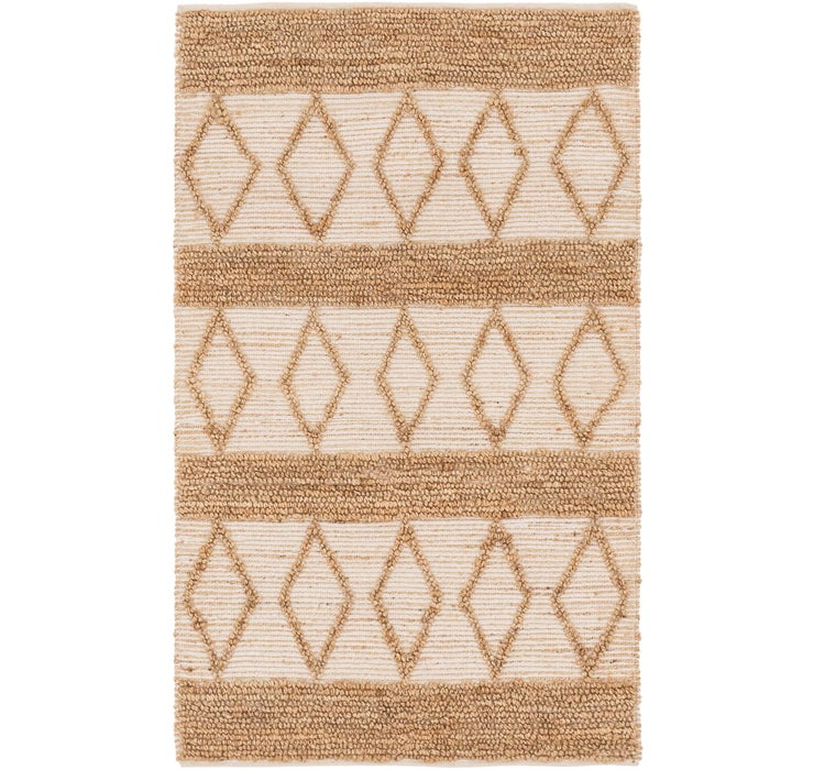 4' 1 x 6' 7 Braided Chindi Rug
