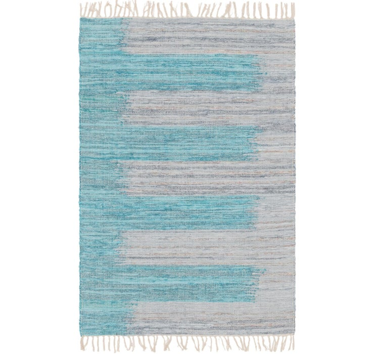 4' 1 x 6' 2 Chindi Cotton Rug