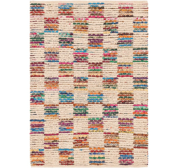 4' 1 x 5' 6 Chindi Cotton Rug