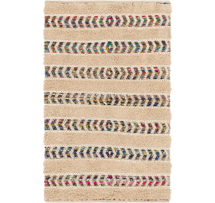 5' 2 x 8' 2 Chindi Cotton Rug