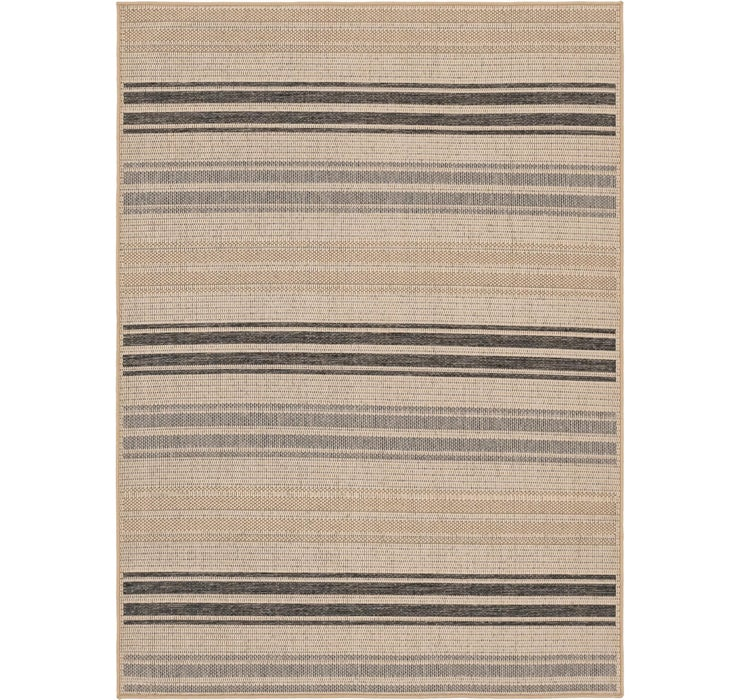 5' 4 x 7' 5 Outdoor Striped Rug