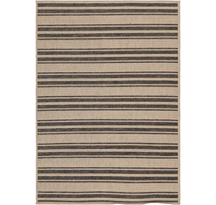 5' 4 x 7' 6 Outdoor Striped Rug