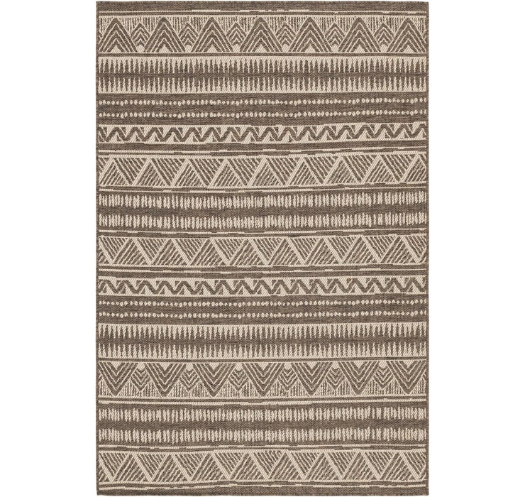 5' x 7' 6 Outdoor Striped Rug