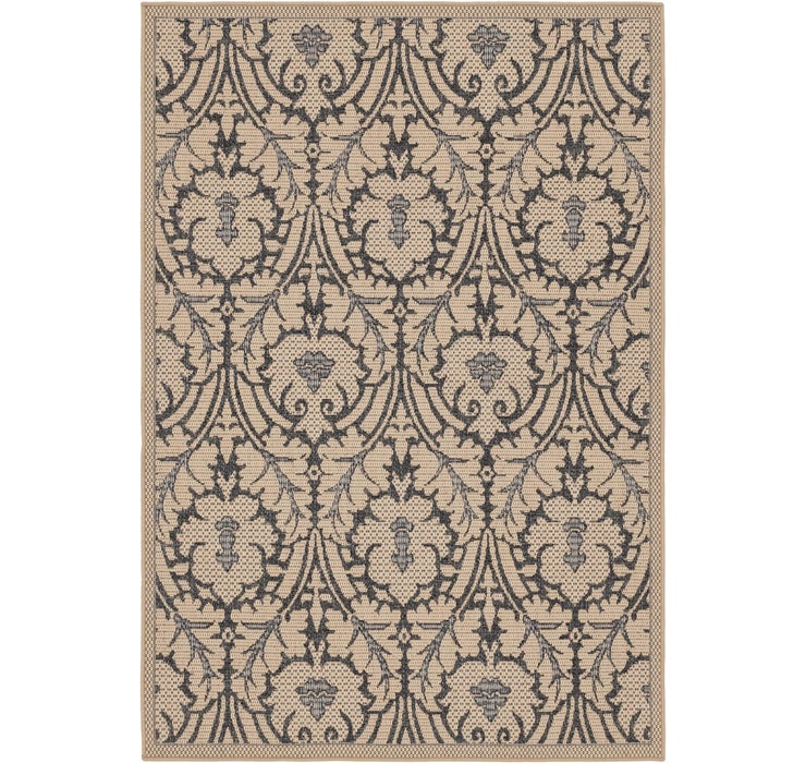 155cm x 230cm Outdoor Botanical Rug