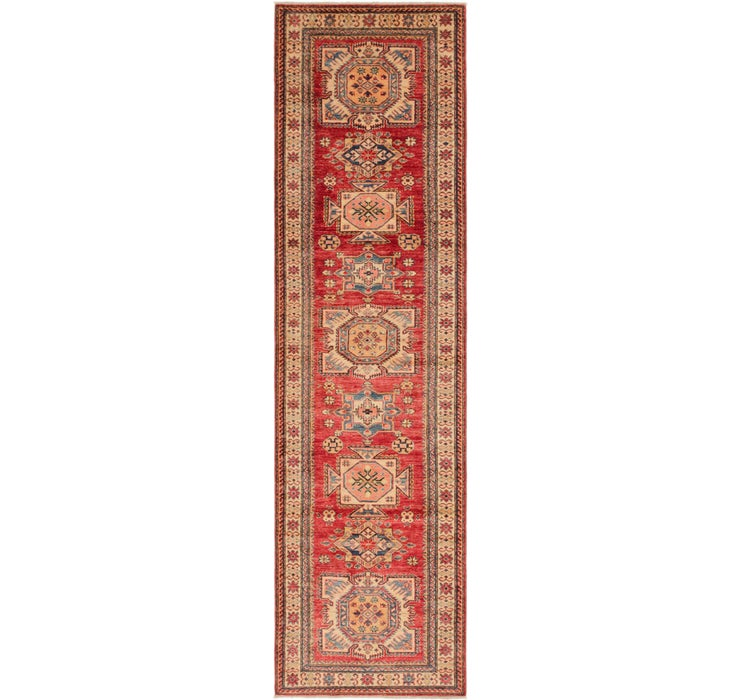 85cm x 310cm Kazak Oriental Runner Rug