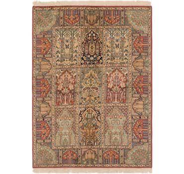 Image of 4' 1 x 6' Kashmir Oriental Rug