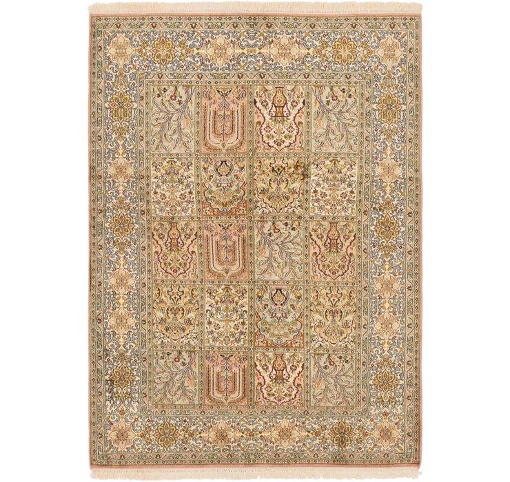 4' x 5' 10 Kashmir Oriental Rug