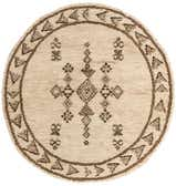 6' 6 x 6' 10 Moroccan Round Rug thumbnail