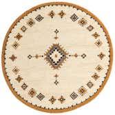 6' 5 x 6' 5 Moroccan Round Rug thumbnail