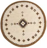 7' 4 x 7' 5 Moroccan Round Rug thumbnail