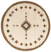 7' 3 x 7' 4 Moroccan Round Rug thumbnail