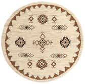 6' 5 x 6' 6 Moroccan Round Rug thumbnail