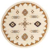 7' 3 x 7' 5 Moroccan Round Rug thumbnail