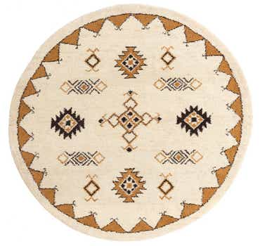 7' 3 x 7' 5 Moroccan Round Rug