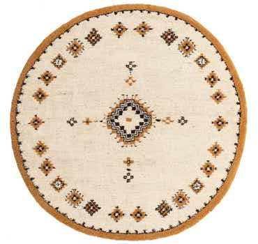 6' 5 x 6' 5 Moroccan Round Rug