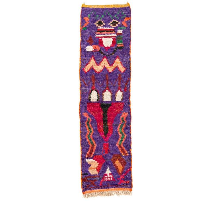 80cm x 295cm Moroccan Runner Rug