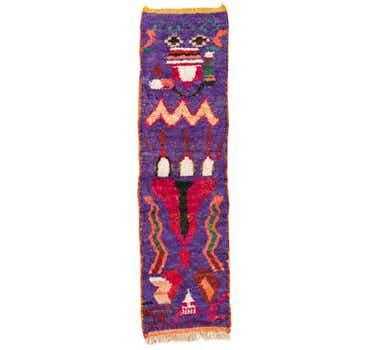2' 8 x 9' 8 Moroccan Runner Rug