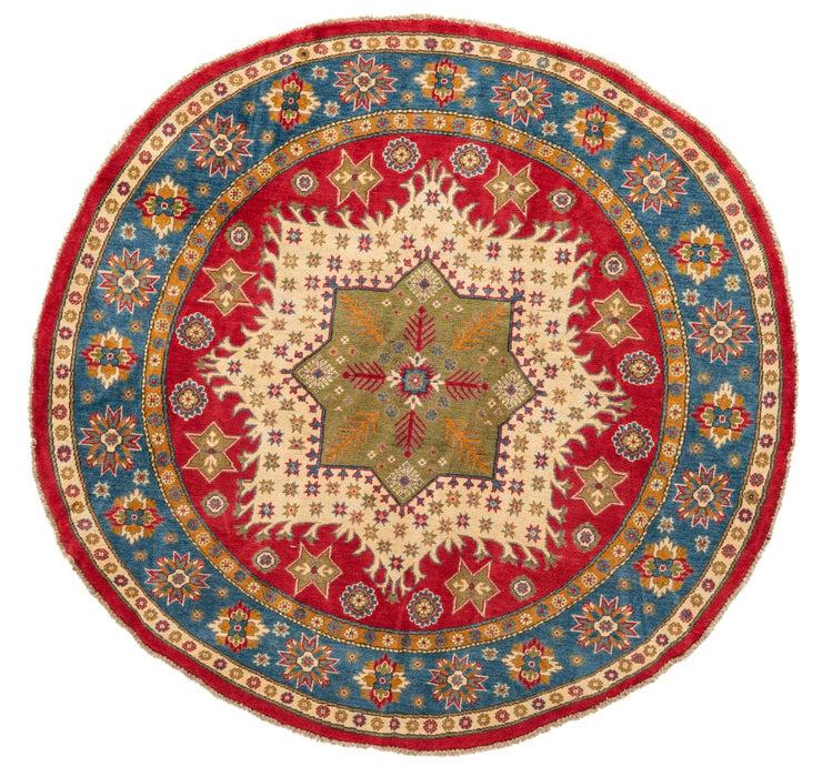 195cm x 203cm Kazak Round Rug