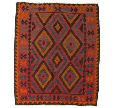 Image of 5' 3 x 6' 2 Kilim Maymana Square Rug