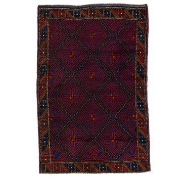 2' 11 x 4' 5 Balouch Persian Rug