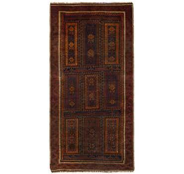 3' 9 x 7' 6 Shiraz Persian Runner Rug