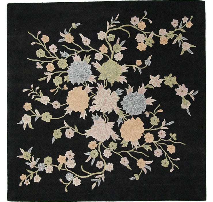 9' 10 x 9' 10 Floral Agra Square Rug