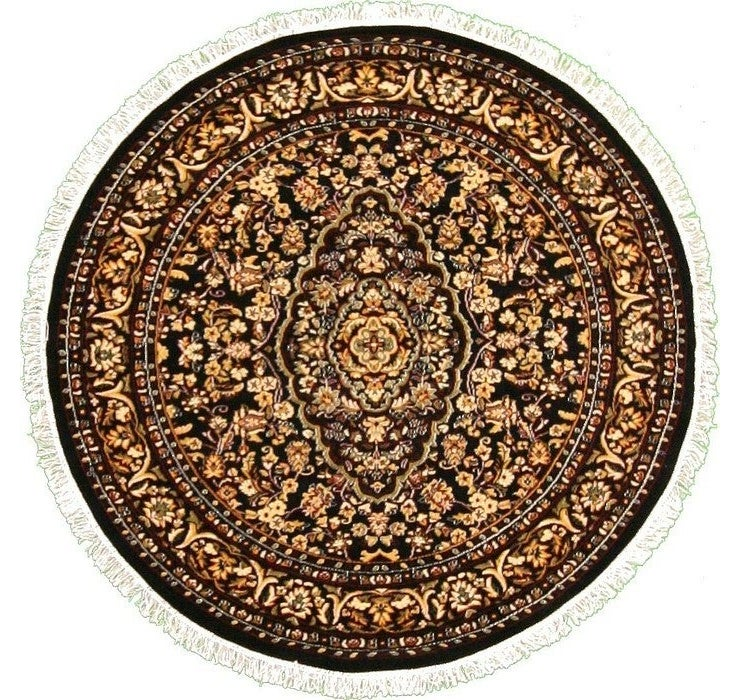 6' x 6' Kashan Design Round Rug