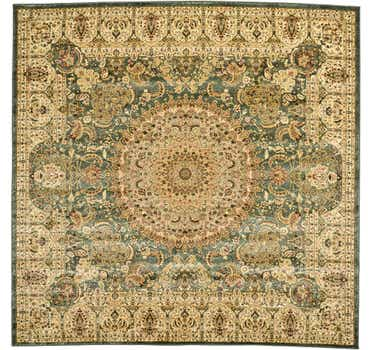 Image of 9' 10 x 9' 10 Tabriz Design Square Rug